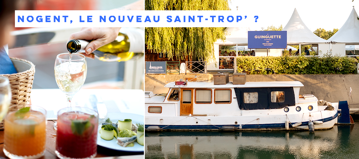 Bar et restaurant on a barge at Nogent-sur-Marne in France
