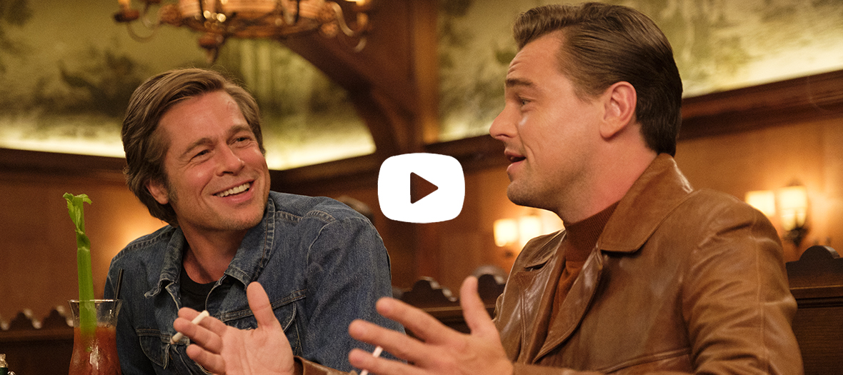 Once upon a time in Hollywood film sample with Leonardo DiCaprio et Brad Pitt