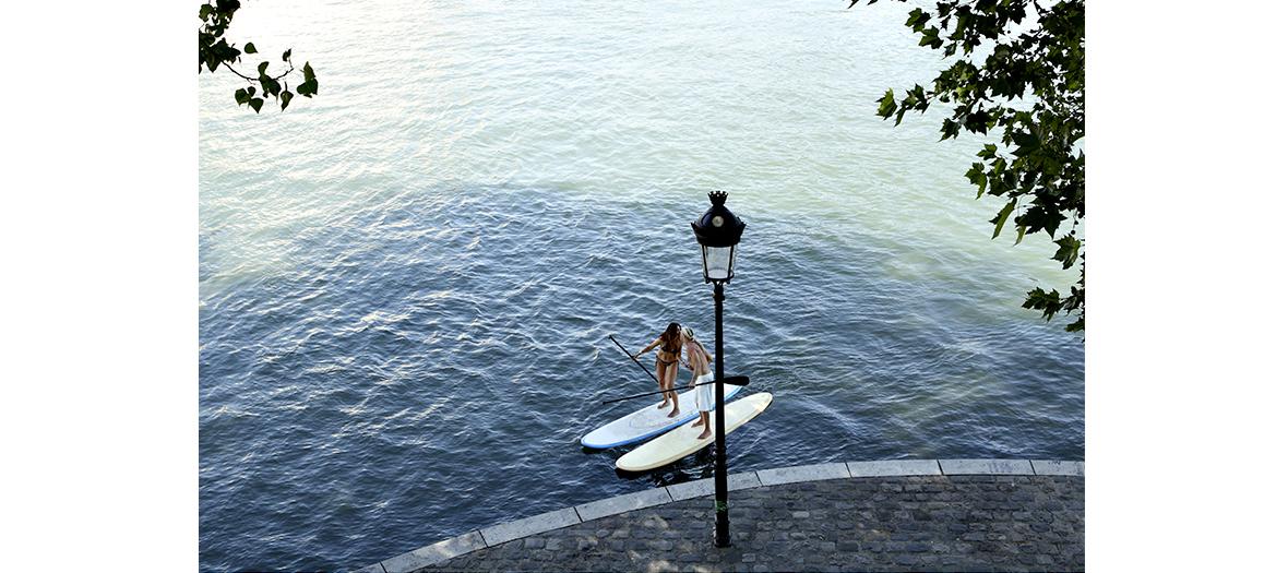 Paris Plages, paddle et kayak à la base nautique de la Villette