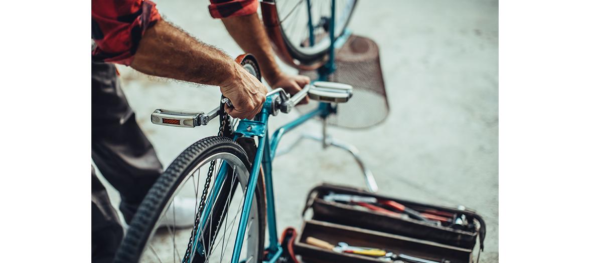Paris Plages, ateliers réparation de vélo