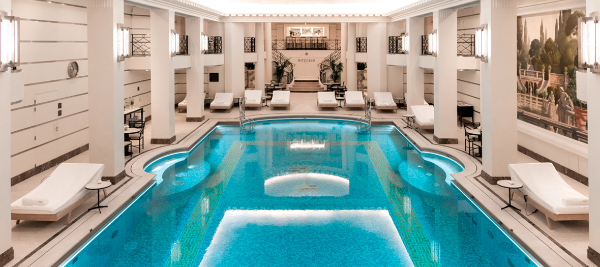 Ritz Club spa with swimming pool, sauna, hammam in Paris