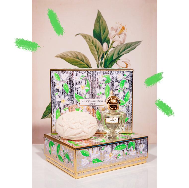Coffret Fleur d'Oranger Intense, parfum fleur d'oranger, bergamote et santal et savon