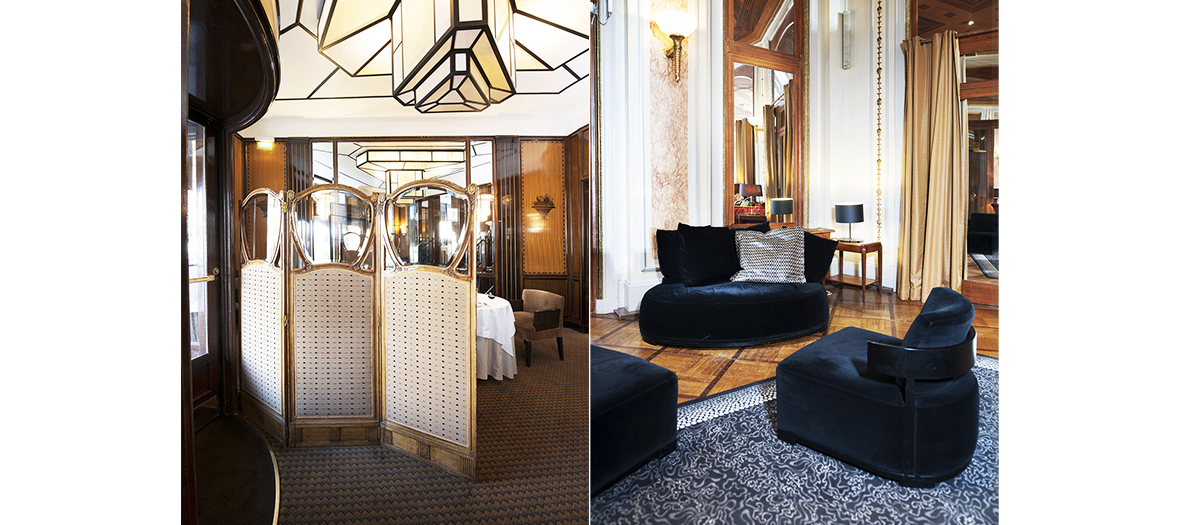 Armchairs and furniture of the Lutetia Hotel