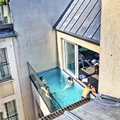 Piscine en plein air Paris