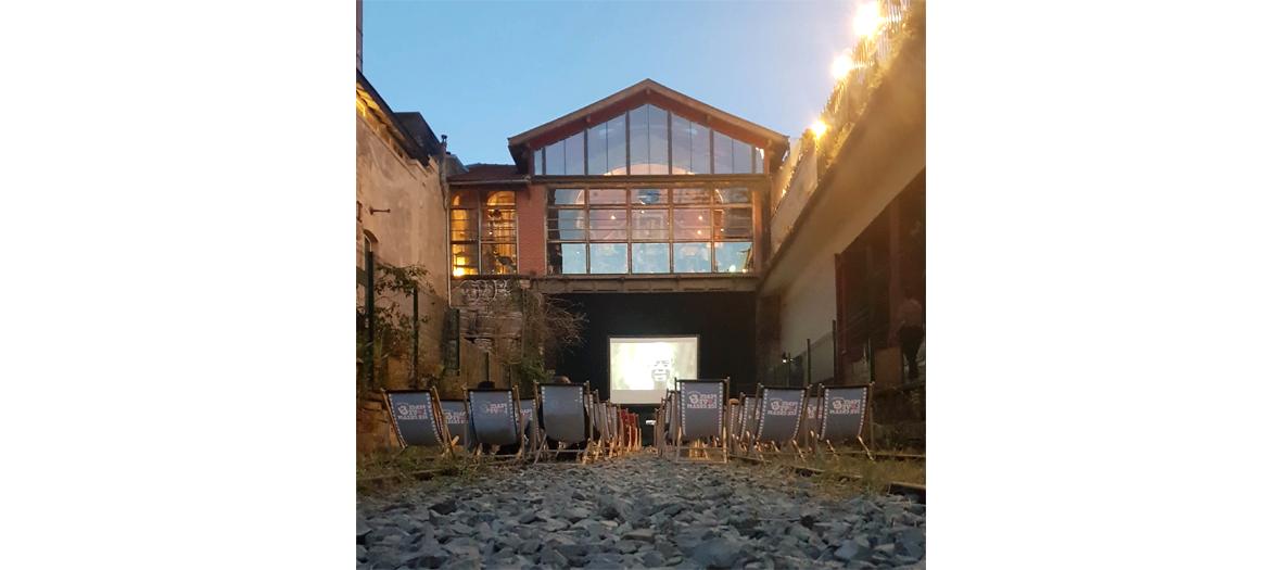 Cinéma en plein air à la Recyclerie