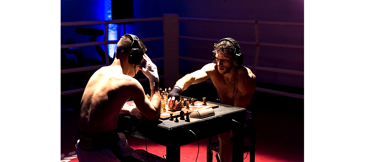 Chessboxing with Thomas Cazeneuve and Paul Ducher at Cabaret Sauvage