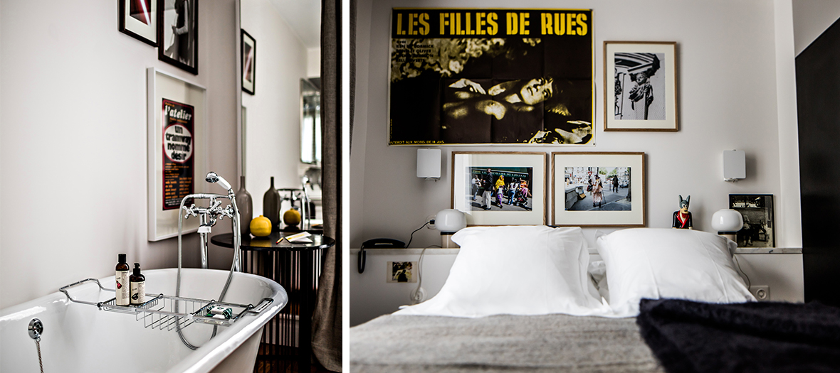 Standard bedroom at the hotel Pigalle in Paris