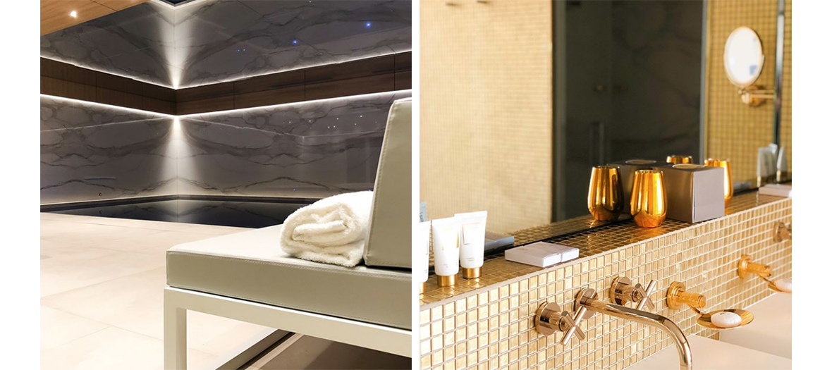 salle de bain du spa de l'hotel Bowmann