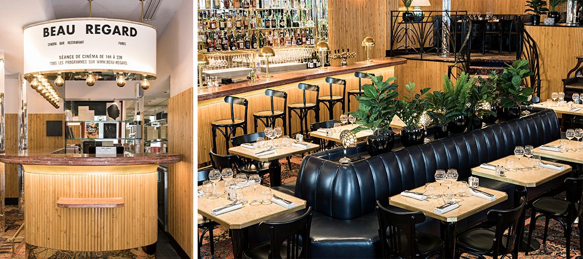 bar à cocktail et salle de restaurant du cinéma beau Regard dédié au cinéma d'auteur