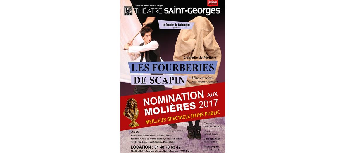 Pièce de théâtre Les Fourberies de Scapin de Molière au théâtre Saint Georges
