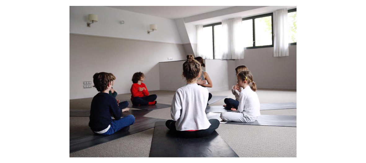 Children's yoga session