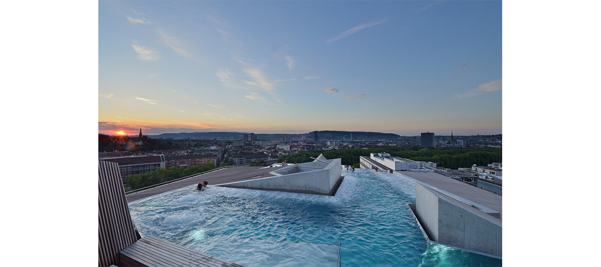 Thermal bath on the rooftops of Zurich