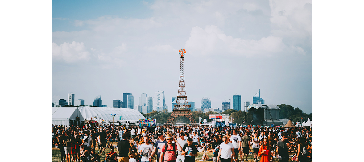 Lollapalooza festival in Hippodrome de Longchamp