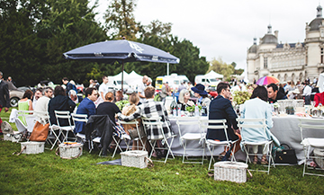 A stylish garden party in Chantilly
