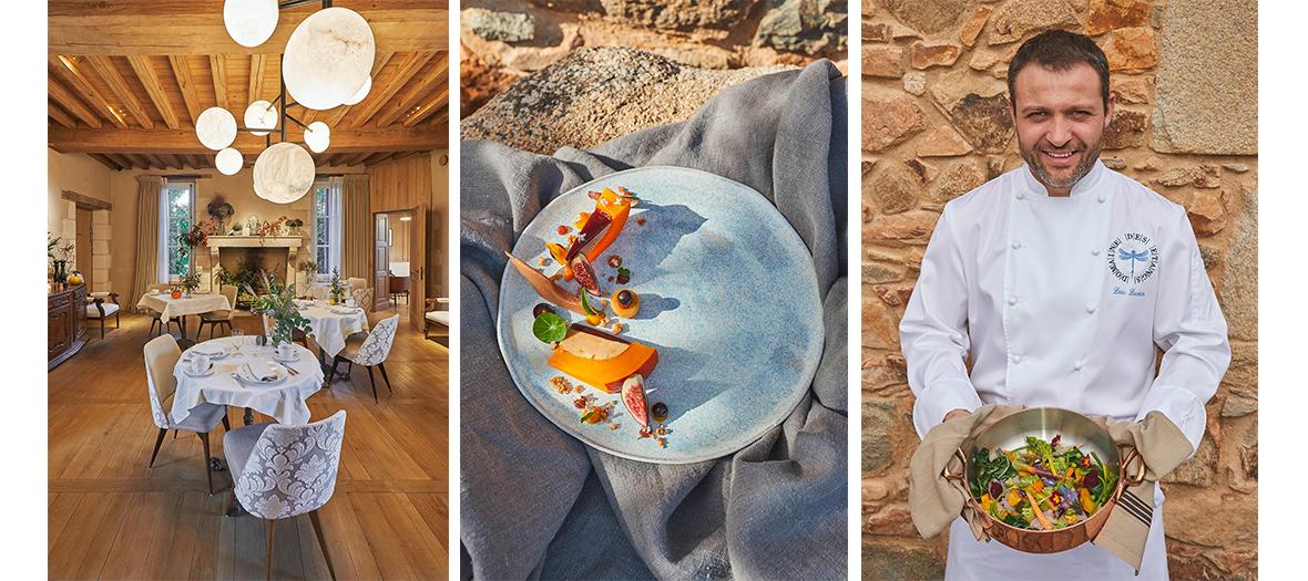 restaurant gastronomique du domaine des Etangs avec le chef étoilé Loïc Lecoin.