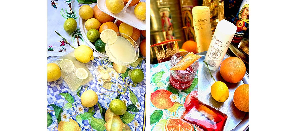 Cocktails Negroni, Margarita et Du raisin et des pêches chez ISTR