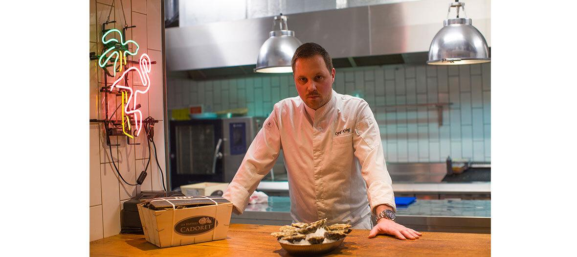 huîtres fraîches fines de claire n°3 de la maison d'huîtres Amélie