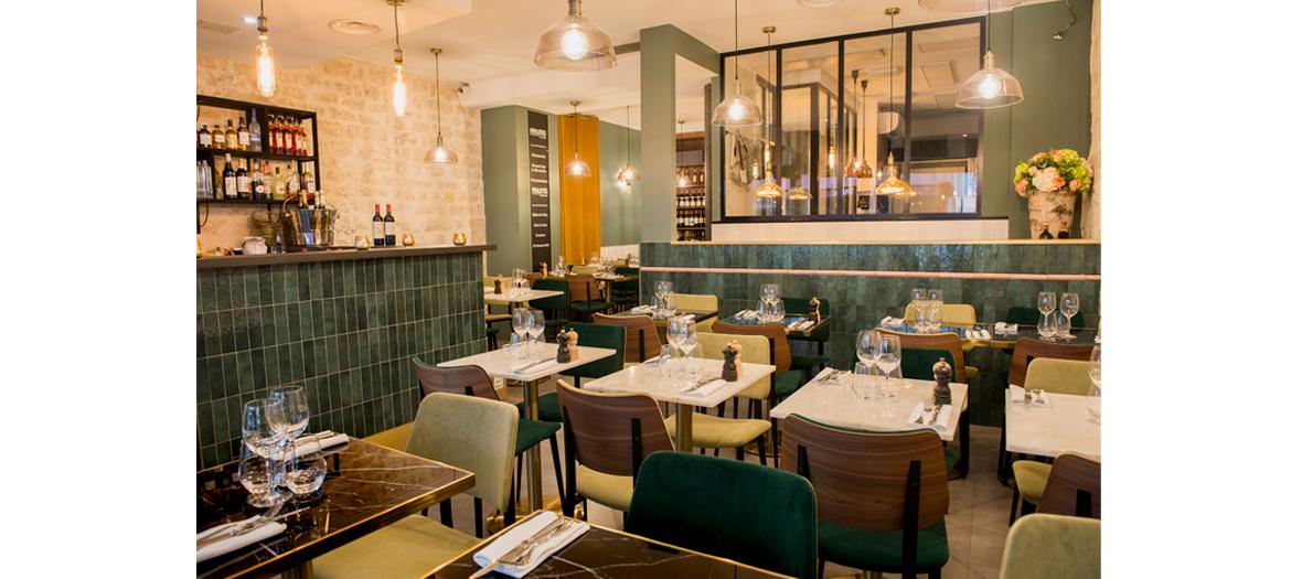 Salle à manger du restaurant Pipalottes à Paris