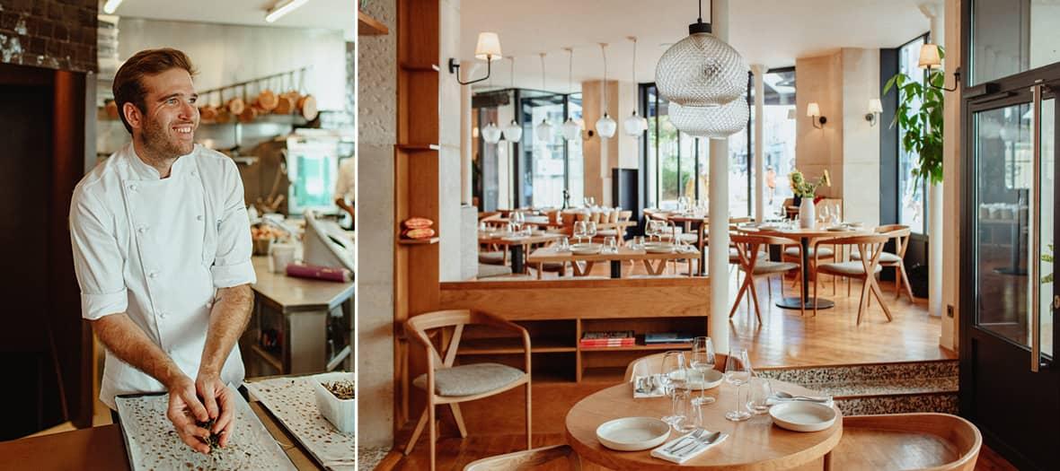 Portrait d'Alexandre Marchon dans son restaurant à Paris