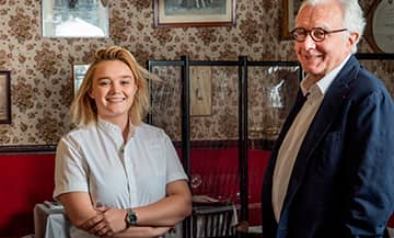 Alain Ducasse et Alexia Duchêne at the Bistrot Allard in Paris