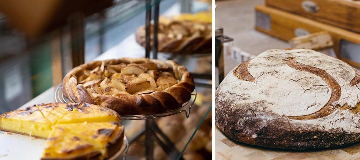flan à la vanille et l'extraordinaire tarte aux pommes chez Poilâne à Paris