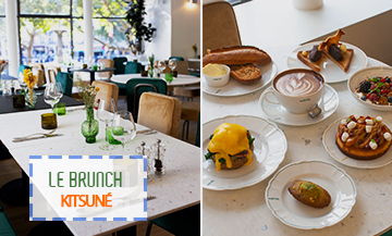 Brunch Cafe Kitsune in Paris is your next hot spot for just the kind of Sunday brunch we love