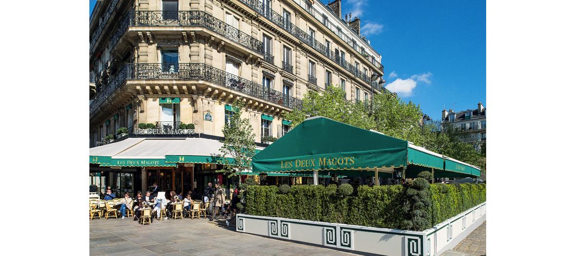 Les deux Magot Café terrace place Saint-Germain in Paris