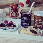 Dark chocolate, milk, white cookies, pecans, hazelnuts, pieces of fruit and jam from the Ann S Factory Cookies