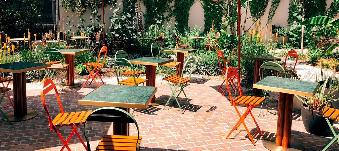 Jardin secret du restaurant libanais Laia