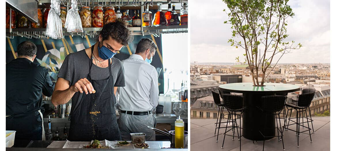 Tortuga restaurant by Julien Sebbag in Paris