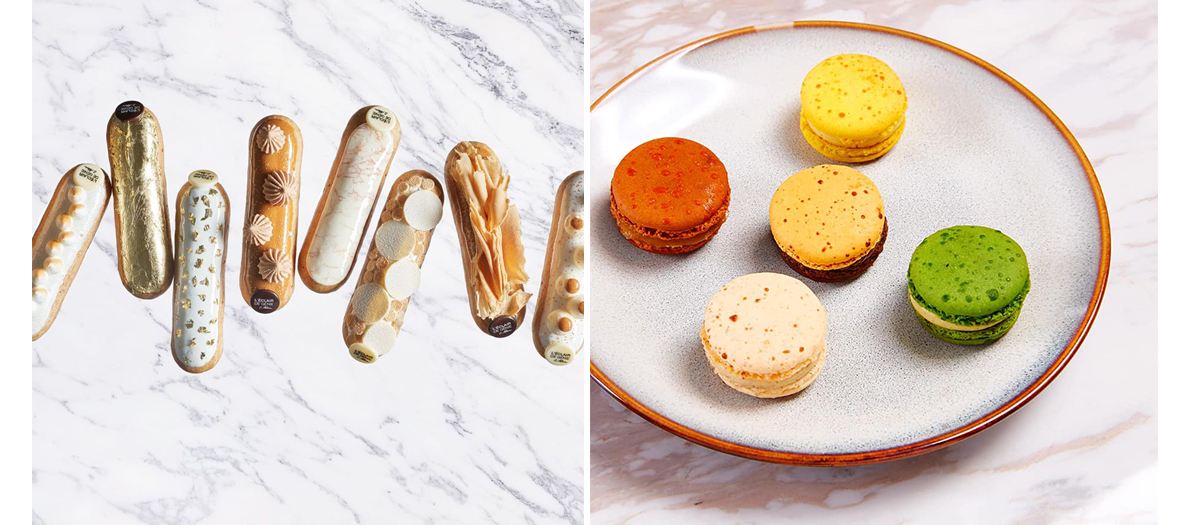 Macaroon with flashy colors and exotic scents from the Eclair De Genie pastry shop
