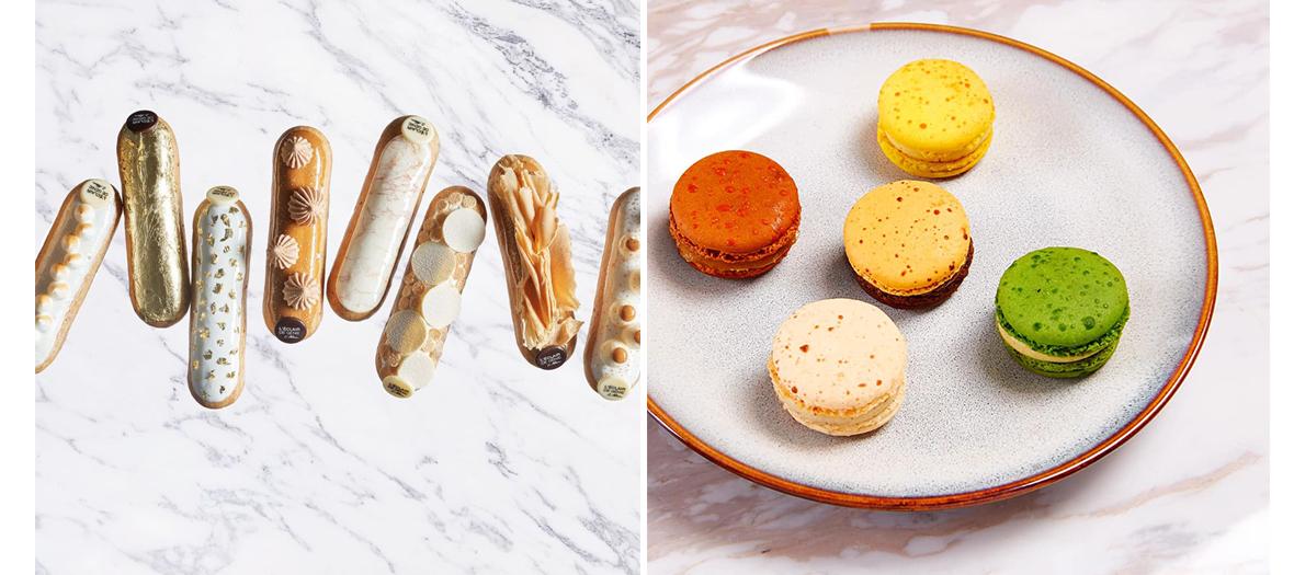 Macaron aux couleurs flashy et des parfums exotiques de la patisserie l'Eclair De Genie