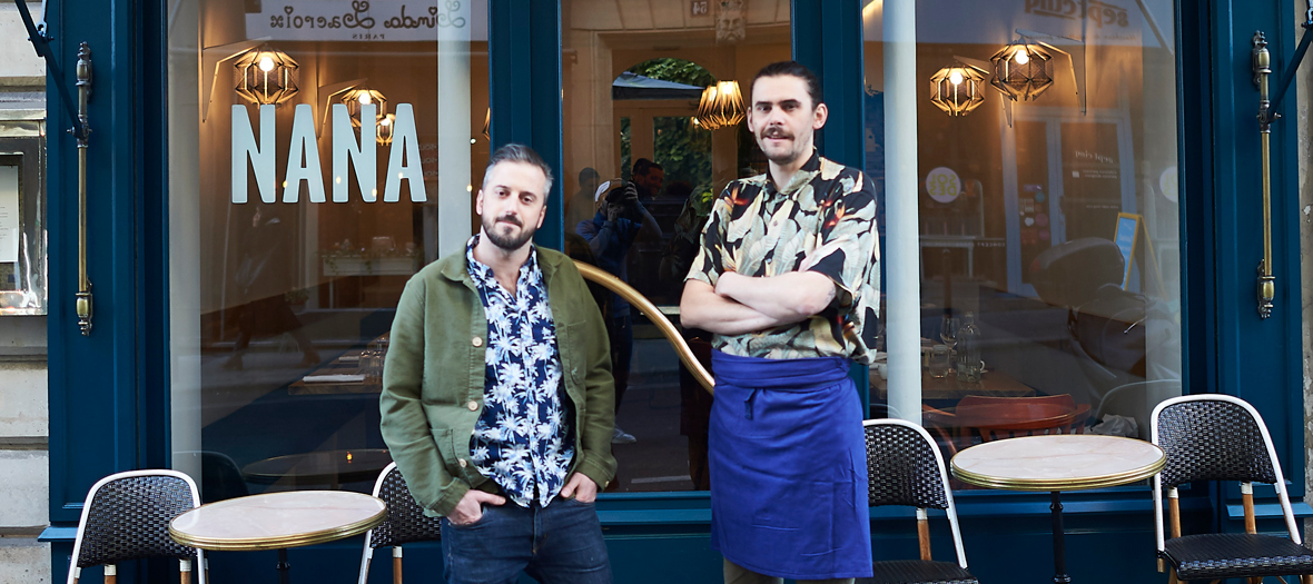 Nicolas Bellini and Vincent Jouyaux founder of the Nana Fishbar