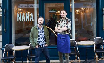 Nicolas Bellini et Vincent Jouyaux fondateur du restaurant Nana