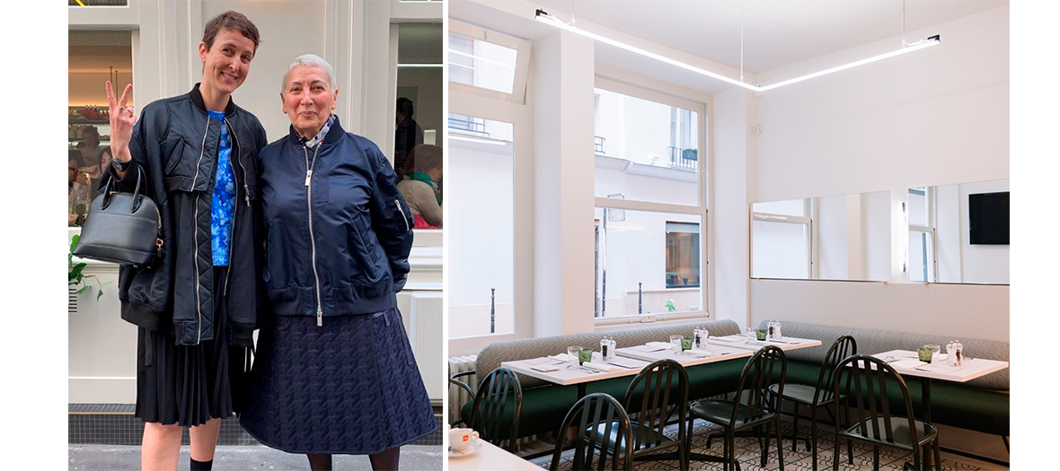 Portrait of Sarah Andelman and the Decoration of the restaurant Mar'co