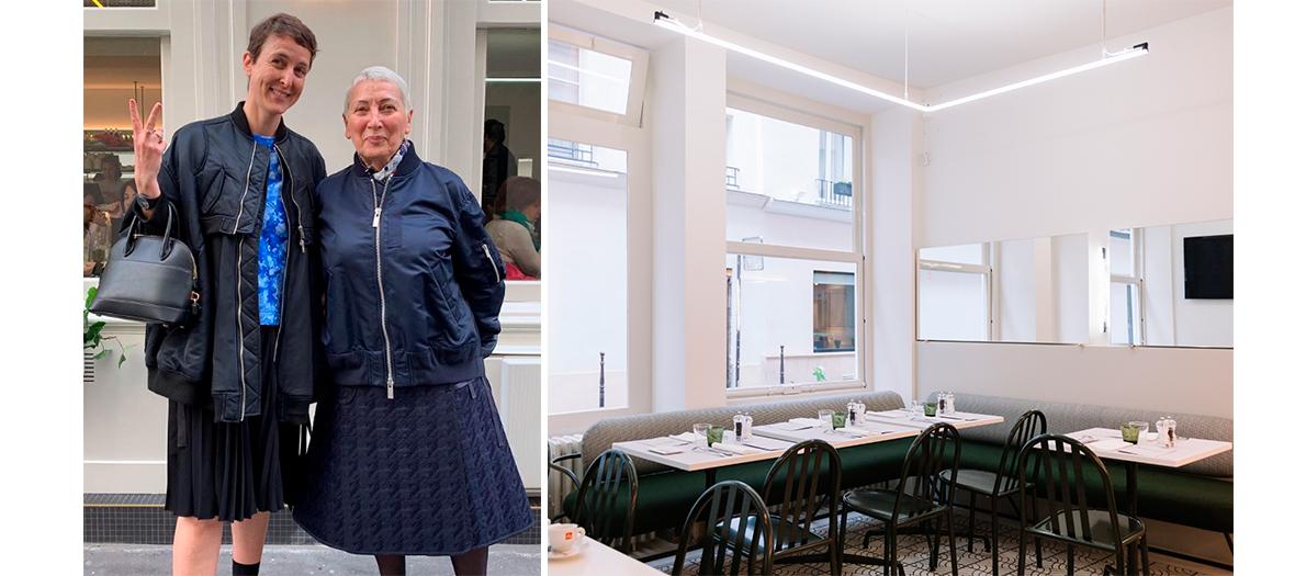 Portrait de Sarah Andelman et la Décoration de la salle du restaurant Mar'co