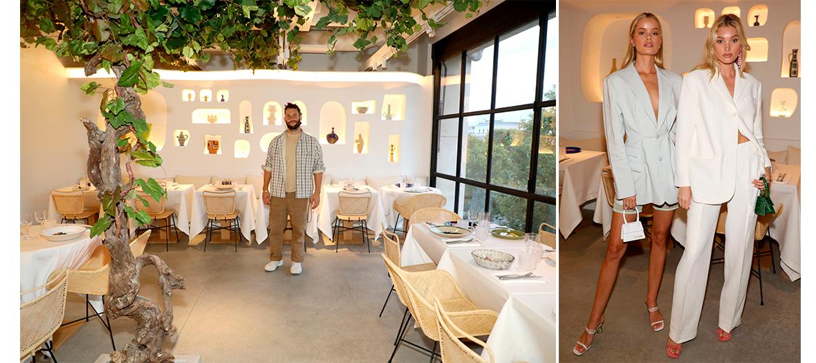 Portrait of Jacquemus in his Oursin restaurant at Galeries Lafayette Champs-Elysées