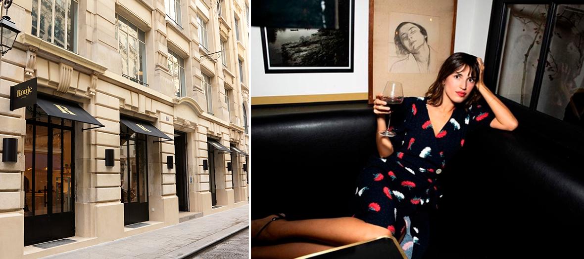 Jeanne Damas at café Jeanne in Paris