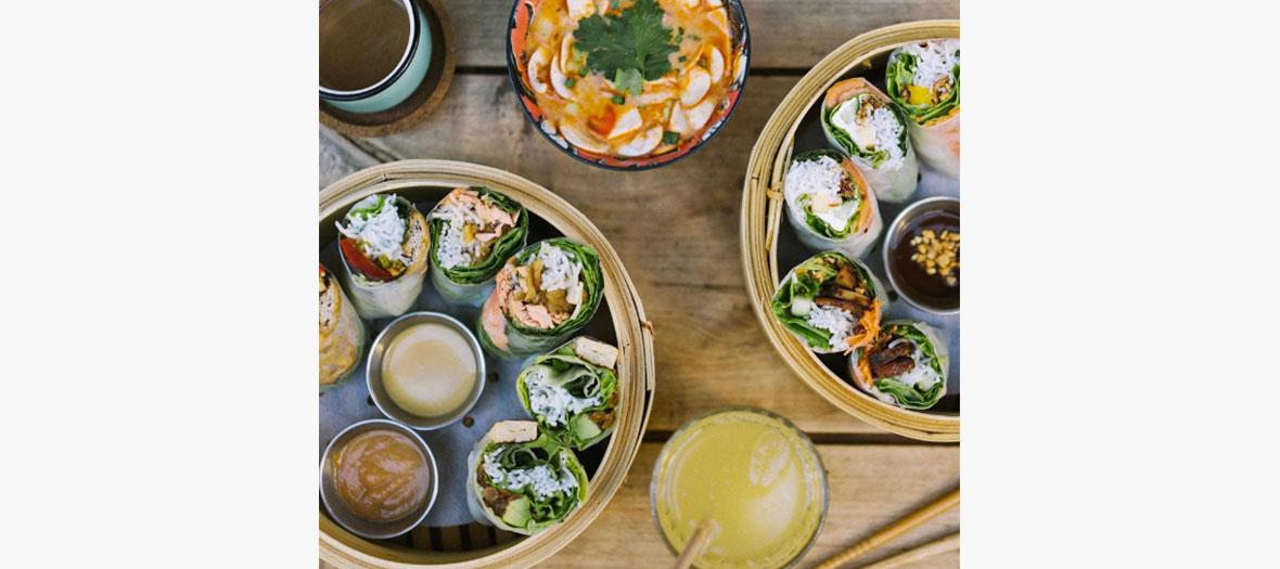 Les rouleaux de printemps du restaurant street food Banoi
