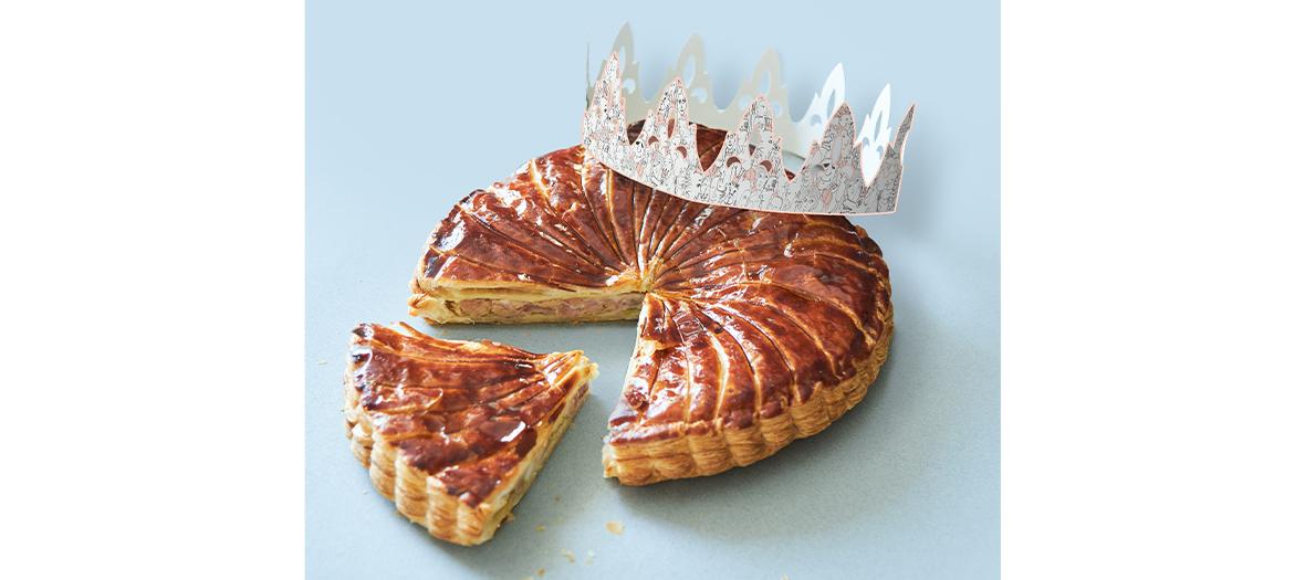 La Galette des rois à base de pâte feuilletée, farce de cochon et foie gras de la Maison Vérot