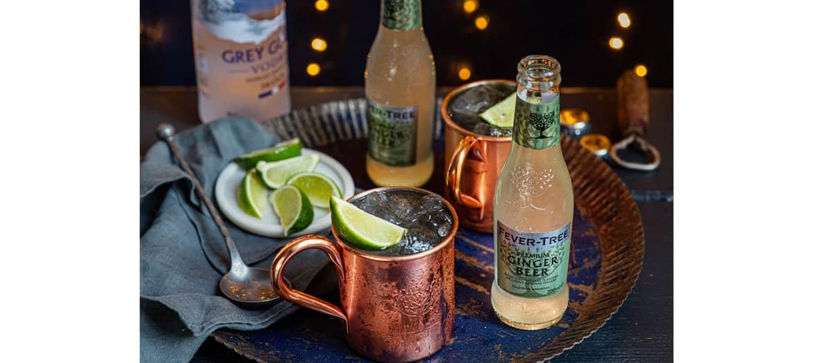 La recette du cocktail Moscow Mule avec de la Ginger Beer fever-tree