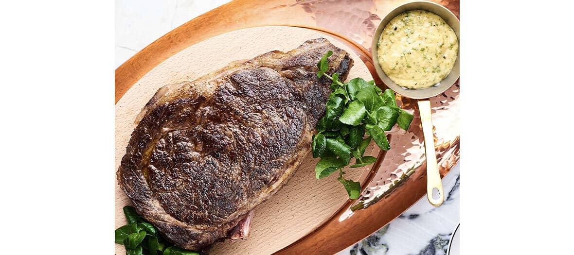 Côte de bœuf au restaurant Clover Grill de Jean-François Piège