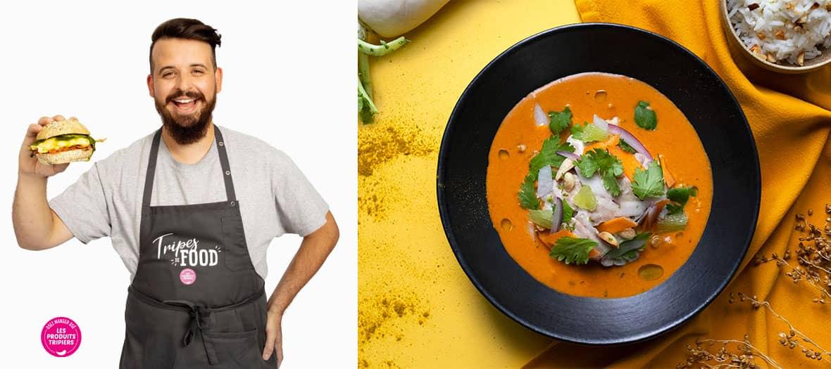 Curry panang à la cervelle d'agneau et cacahuètes du finaliste de top chef , Adrien Cachot