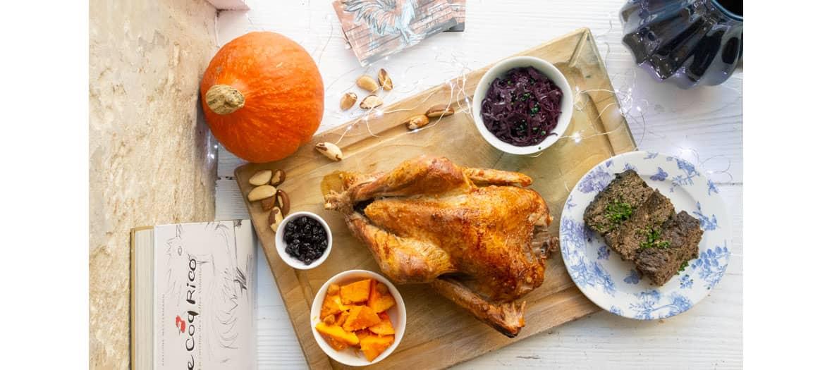 La recette du menu de Thanksgiving par Antoine Westermann sur Coq Rico