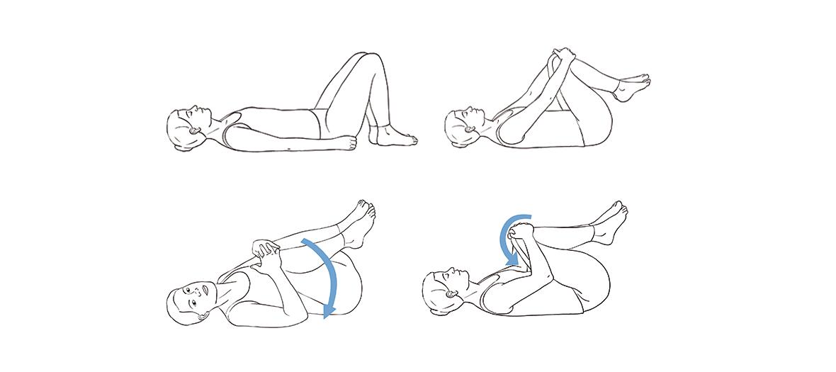 Les positions à adopter pour l'auto-masage du dos