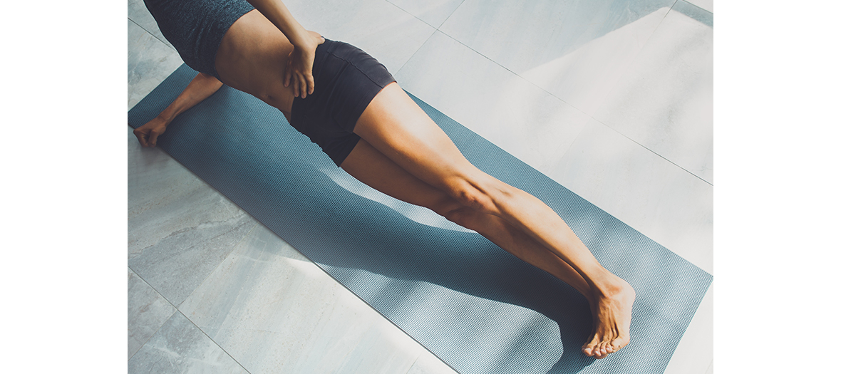Position exercice gainage pendant 45 minutes