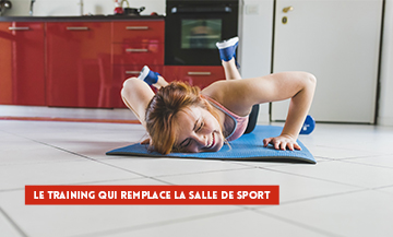 Exercice Sport A La Maison pour rester mince avec les squats, les pompes, le gainage, les crunchs, les squats jumps et les triceps chaise