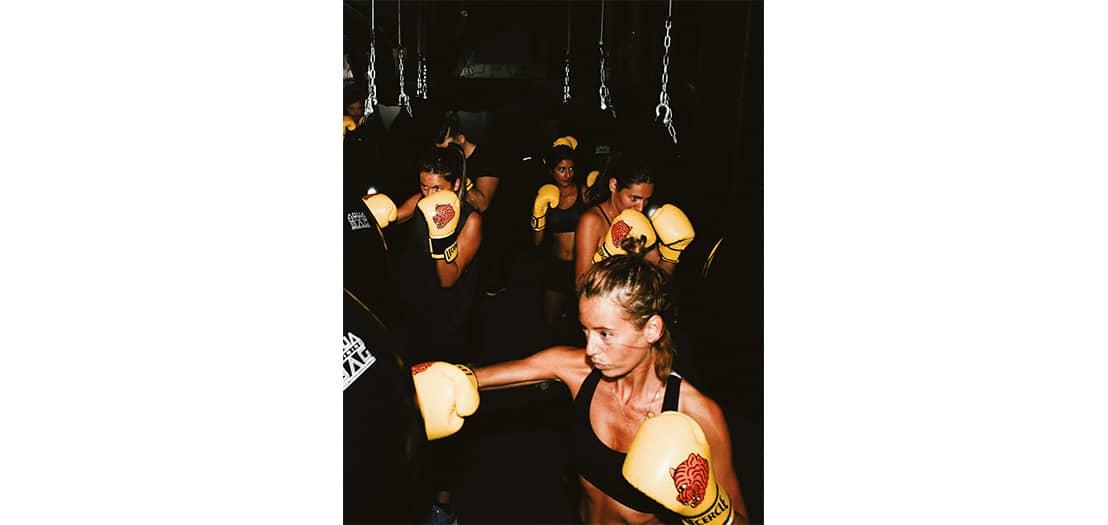 Séance de boxe cardio au Cercle Boxing Paris