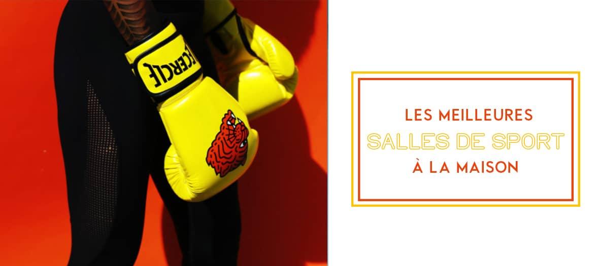 Les salles de sport avec des cours de cardio, fitness, yoga en lignes avec Yuj, lecercleboxing et Kalon Wellness Paris