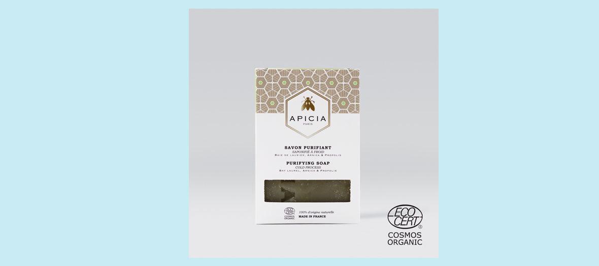 Savon purifiant 100g, Apicia, 12 €